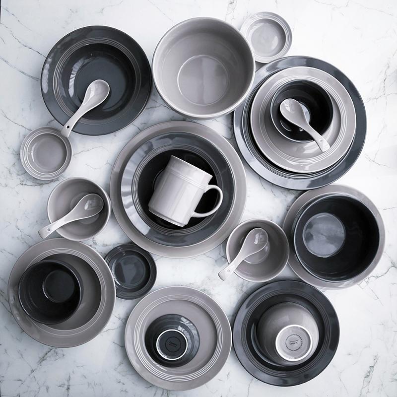 碗碟套装家用 简约陶瓷碗盘子组合欧式餐具创意图片