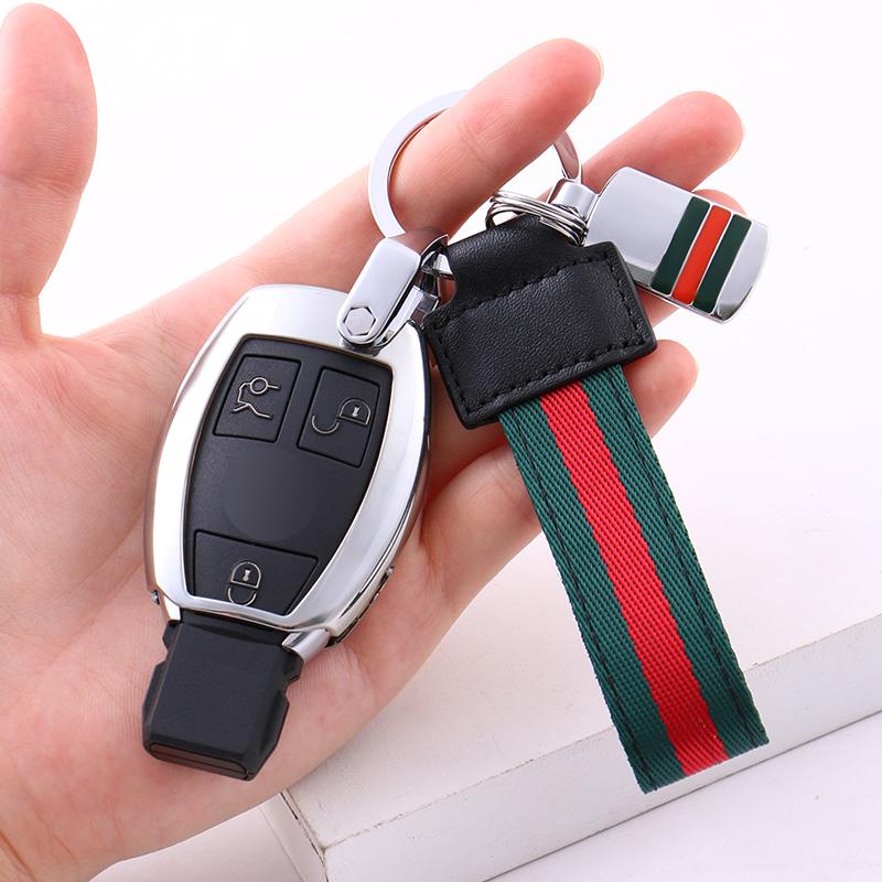 汽车钥匙扣男士创意腰挂宝马奔驰壳车用钥匙链挂件锁匙扣圈真皮