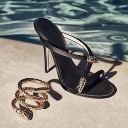 2018夏季新款性感高跟鞋子百搭仙女鞋黑色凉拖鞋细跟露趾凉鞋女士