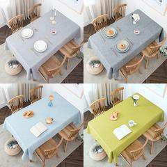 北欧桌布布艺棉麻纯色餐桌布家用长方形亚麻茶几布台布网红ins风