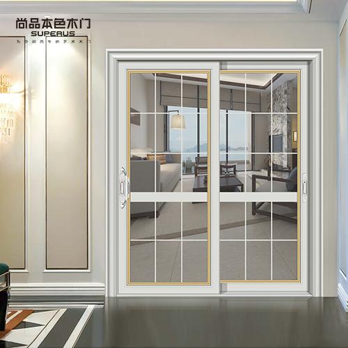 尚品本色木门 阳台移门 双层玻璃钛镁合金推拉门滑门厨房门T1051