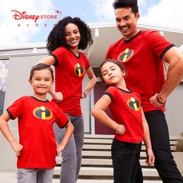 迪士尼商店 超人总动员2经典卡通圆领棉短袖T恤亲子装夏装