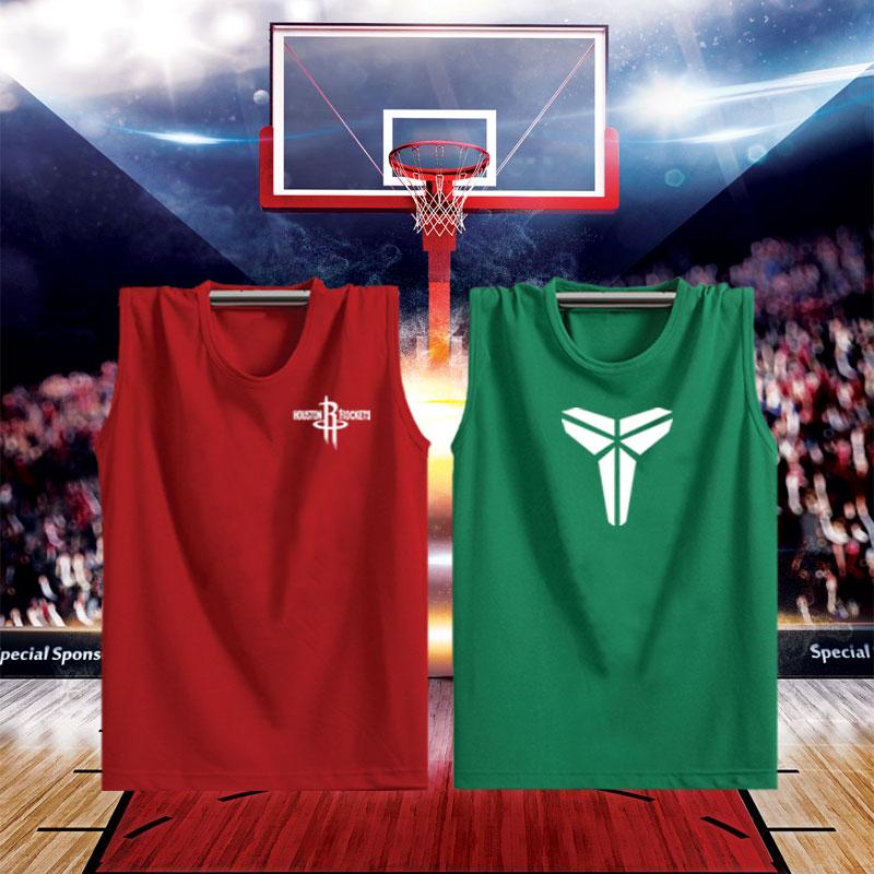 男运动背心男无袖t恤纯棉篮球健身打底衫新款砍袖夏季青年宽松款