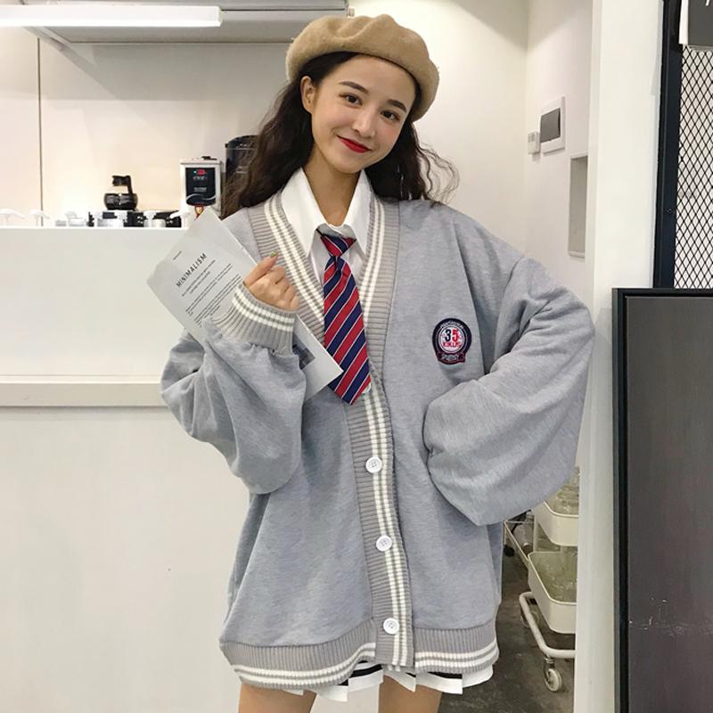鬼马系衣服女日系套装两件套学院风可爱带领带的衬衫校园风学生bf