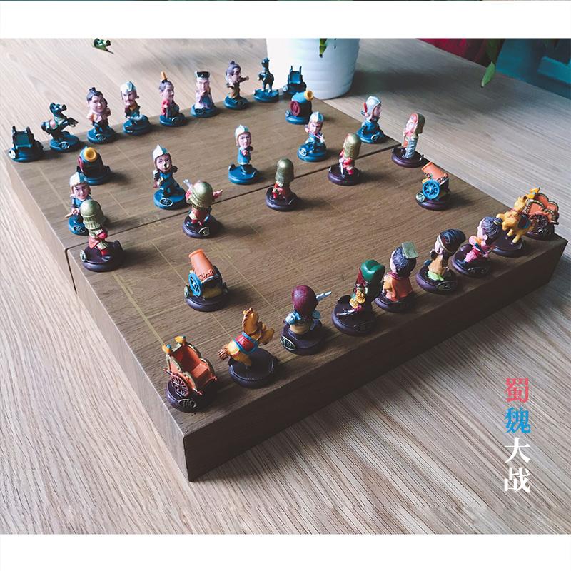 三国立体人物中国象棋Q版儿童 中国风创意特色礼品送老外工艺品