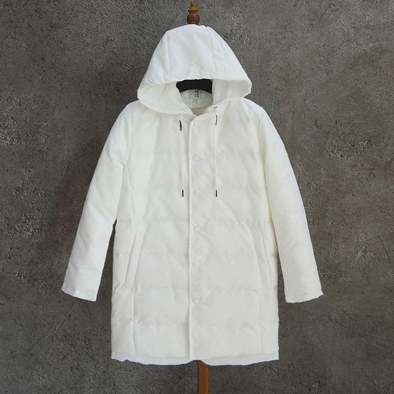 男装 舍 中长 棉衣外套 双门襟的设计 面料好 白色帅