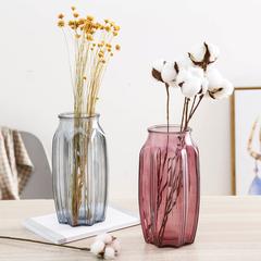 家用欧式简约装饰插花瓶摆件客厅创意摆设透明玻璃瓶干花绿萝瓶子
