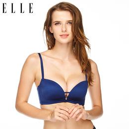 ELLE内衣无钢圈聚拢性感深V型文胸简约无痕调整型胸罩女B00417NH