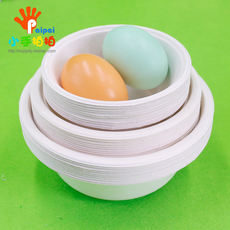 Disposable paper bowl 10 packs painting manual kindergarten hand-made diy material paper bowl filling bowl