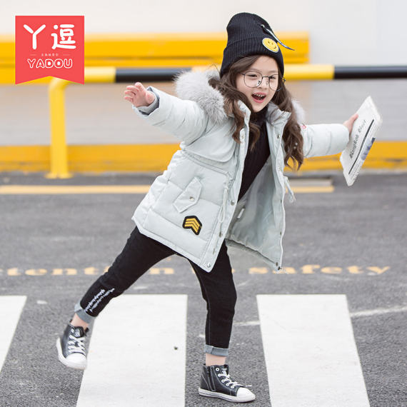 Girls cotton coat New New 1 winter children 2 winter 3 female baby cotton jacket 4 years old children thick cotton clothes