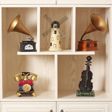 European retro vintage ornaments phonograph American creative home living room small display restaurant wine cabinet decorations