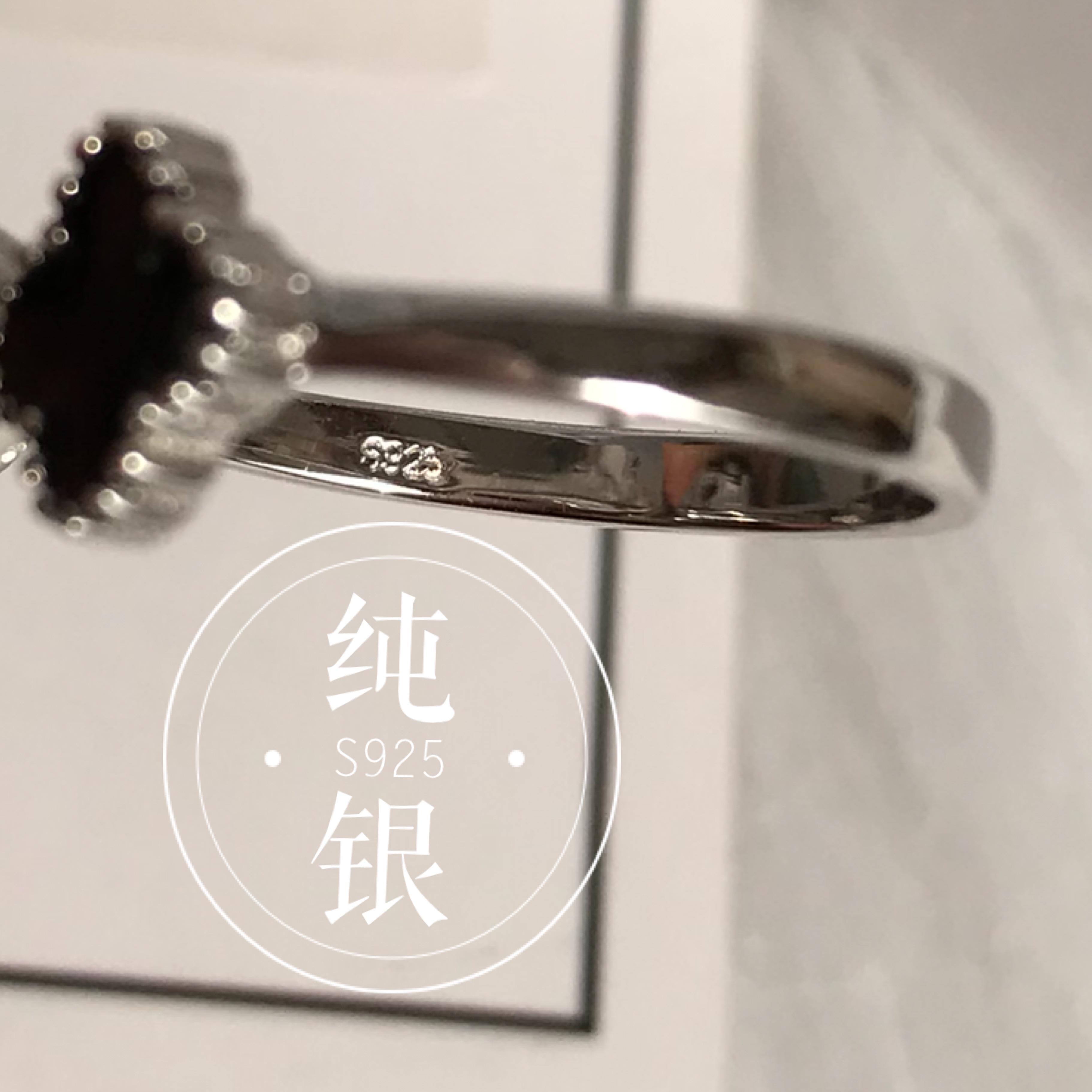 宝宝婴儿胎发纪念品新生儿胎毛纪念品diy手工制作四叶草戒指S925