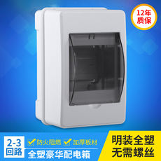 Distribution box air switch box wall mounted plastic 2-3 circuit power wiring box empty box home lighting box