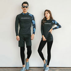 Diving suit female jellyfish clothing was thin snorkeling long-sleeved swimsuit split suit couple surf clothing male swimwear Korea