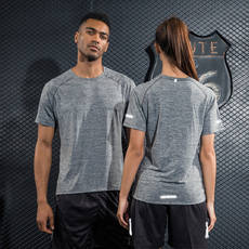 Quick-drying t-shirt short-sleeved sweatshirt men and women lovers round neck breathable half-sleeved loose running clothing thin section of the fitness clothing