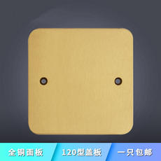 Shipping plug type 120 copper cover pop-up floor socket universal copper dust blank board blind board