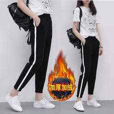 Winter sports pants female pants Korean version of the trend of youth high school junior high school students loose plus velvet thick casual pants