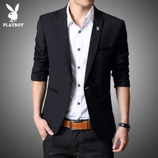 Playboy casual suit male Korean Slim youth thin section small suit trend student single West coat jacket