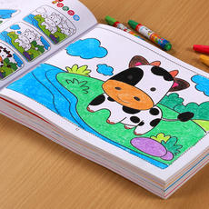 Young children's painting book coloring book 2-3-6 years old baby learning painting graffiti this kindergarten coloring book