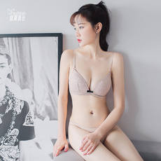 Peach box summer no steel ring soft cup sexy one-piece bra gathered breathable underwear set new product