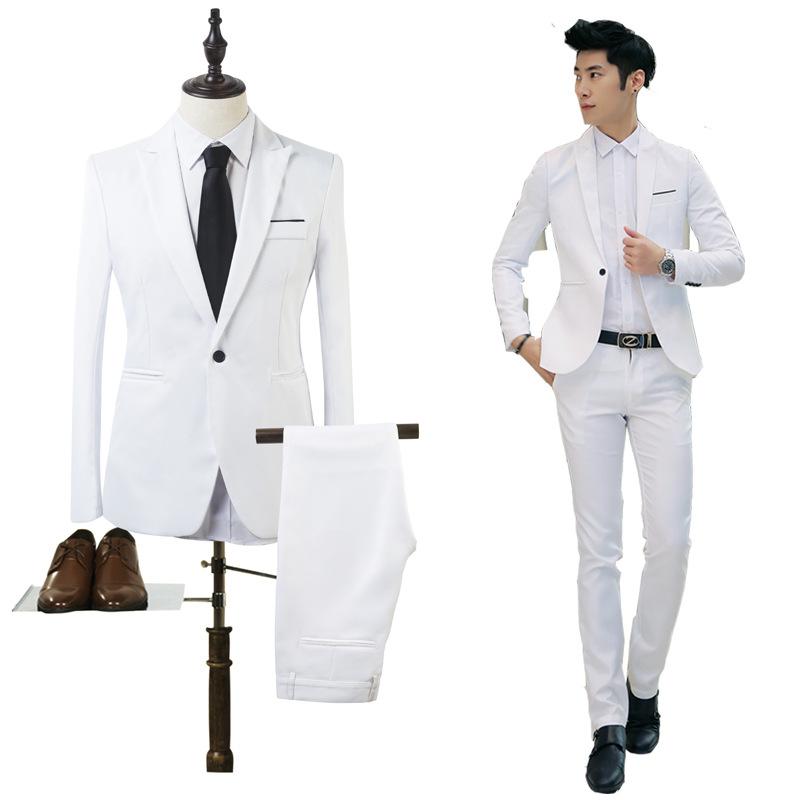西装套装男士商务休闲上班西装三件套英伦风男装结婚礼服职业正装