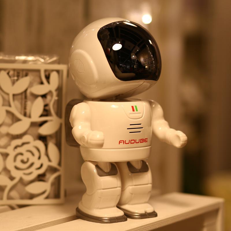 无线手机远程摄像头夜视智能1080p机器人摄像机wifi网络监控器