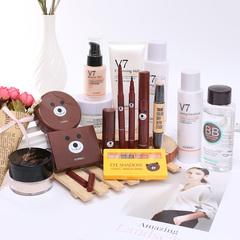 韩婵布朗熊化妆品套装15件套彩妆全套组合美妆初学者学生防水持久