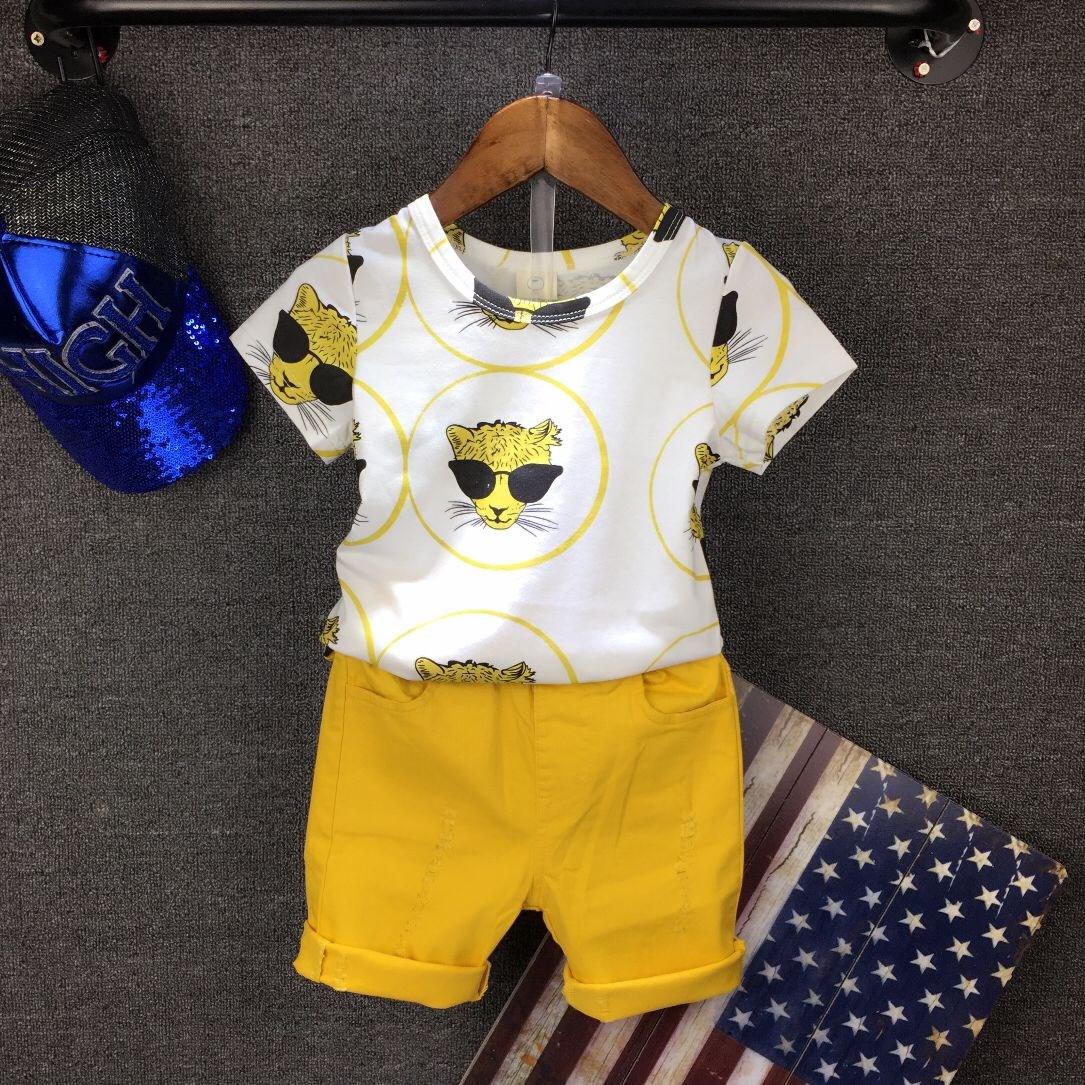 包邮男童夏装套装2018潮儿童短袖两件套3-4-5-6-7岁宝宝新款童装