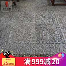 Tang language brick carving Chinese antique courtyard square blue brick brick anti-slip floor tiles ancient building decorative tiles Xiangyun relief