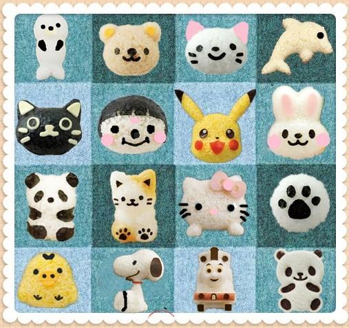 限时日本卡通猫咪饭团模具套装可爱便当米饭三明治寿司工具宝宝