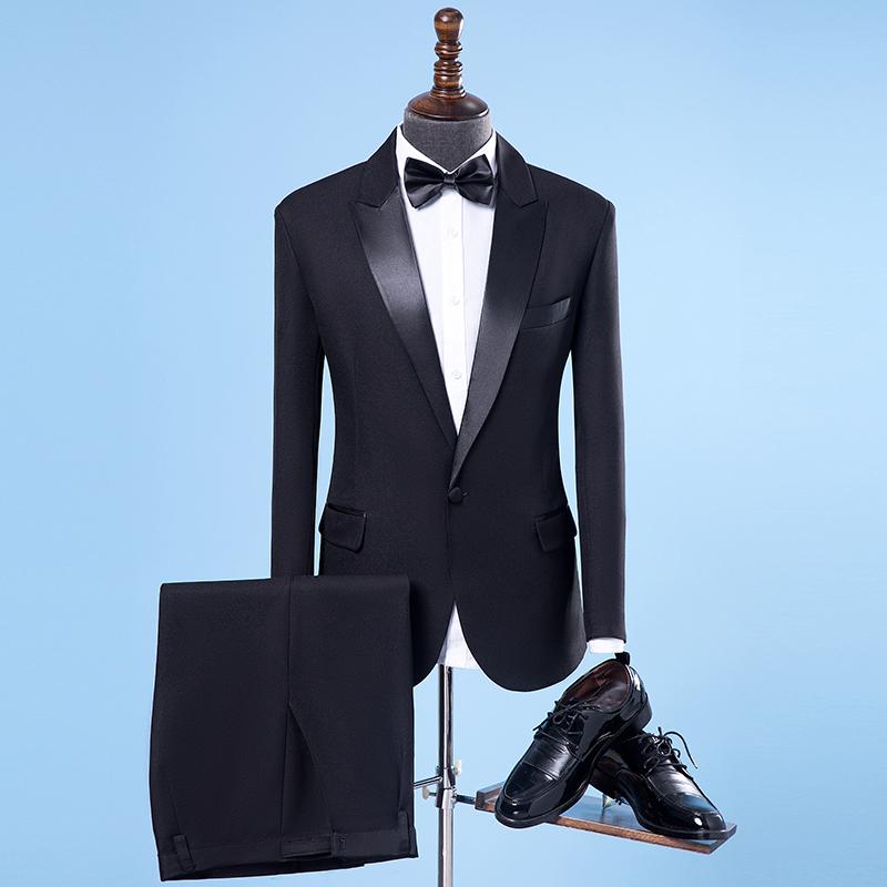 演出服男西服套装歌手主持人礼服男士**大合唱服装表演服男款