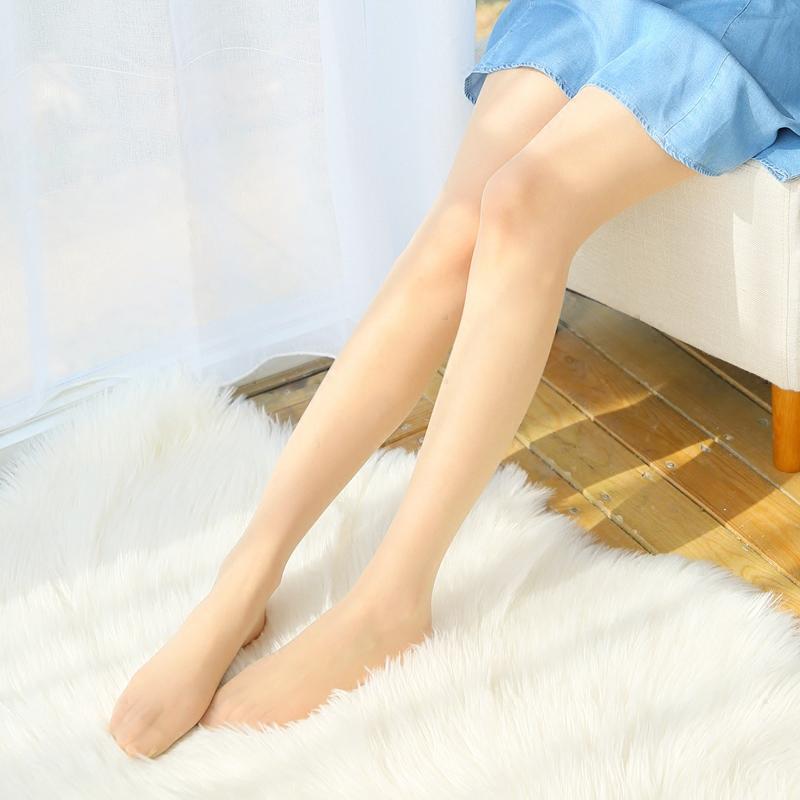 3双超薄款天鹅绒丝袜女防勾丝任意剪 夏季光腿感隐形裸肤色连裤袜