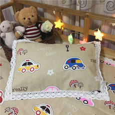 Old coarse cloth student pillow towel 50*80 cotton children's kindergarten pillow towel 30*50 baby saliva towel one loaded