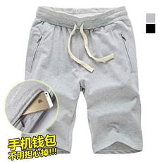 Summer new men's sports shorts cotton thin section breathable running basketball pants casual zipper five pants pants