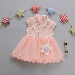 6个月1岁0女宝宝2新生3女婴儿4旗袍5中国风7夏装8夏季9连衣裙12潮