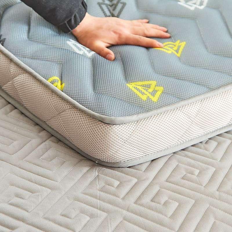 床垫竹纤维竹炭透气夏季床褥立体.8米实用褥子防滑加厚睡垫