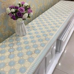 PVC烫金 电视柜垫桌布防水盖布垫茶几垫梳妆台布艺床头柜定做