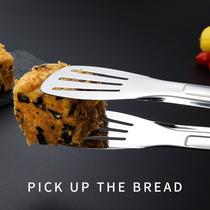 古域304不锈钢食品夹子 加厚家用食物夹烧烤夹牛排馒头面包烤肉夹