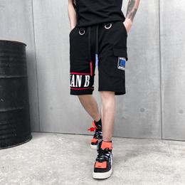 欧美街头嘻哈余文乐裤子青年宽松工装裤夏季潮牌男士休闲五分短裤