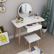 Dressing table bedroom dressing table ins Nordic wood net red small apartment mini dressing table simple modern economy