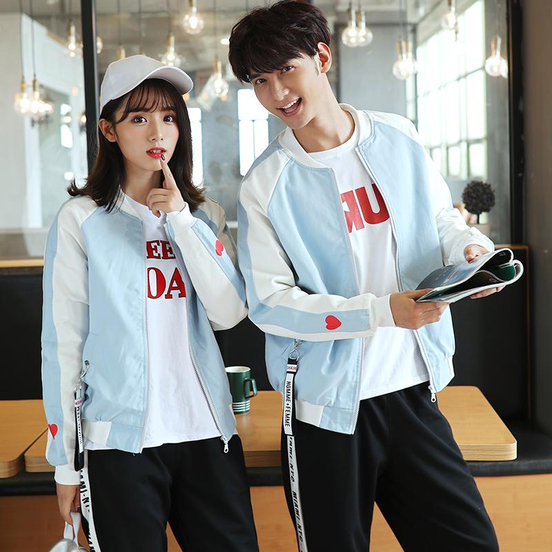 秋季中学生班服运动会一套三件套套装韩版潮学院风外套棒球服校服图片