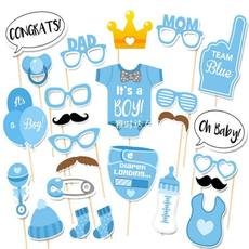 25pcs Baby Shower Photo Booth Props Party Decoration Boy Fun