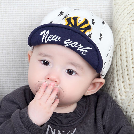 Milk friend newborn baby hat thin section male baby baseball cap baby hat spring and autumn cap children's hat tide