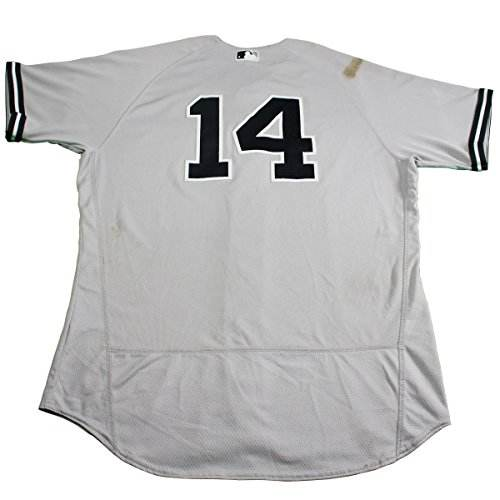 Starlin Castro New York Yankees New Game Used #14 Grey Jers