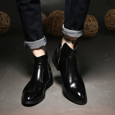 British men's high-top shoes pointed summer Korean version of the Bullock Martin boots increased men's boots hair stylist boots