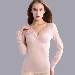 梵雪儿加绒加厚秋冬美人心计塑身衣美体保暖内衣女单件修身打底衫