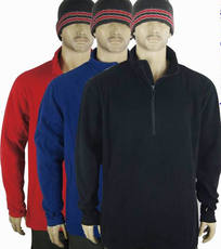 Anti-season half price treatment! Special thickening plus fertilizer XL men's half zipper outdoor catching fleece 3 colors