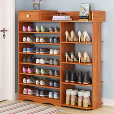 Door Shoe Storage Simple Modern Hall Hall Console Multi-function Imitation Solid Wood Economy Simple Home Shoe Rack