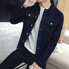 2019 new men's denim jacket spring and autumn models Korean version of the trend jacket casual Slim handsome autumn clothes men's clothing