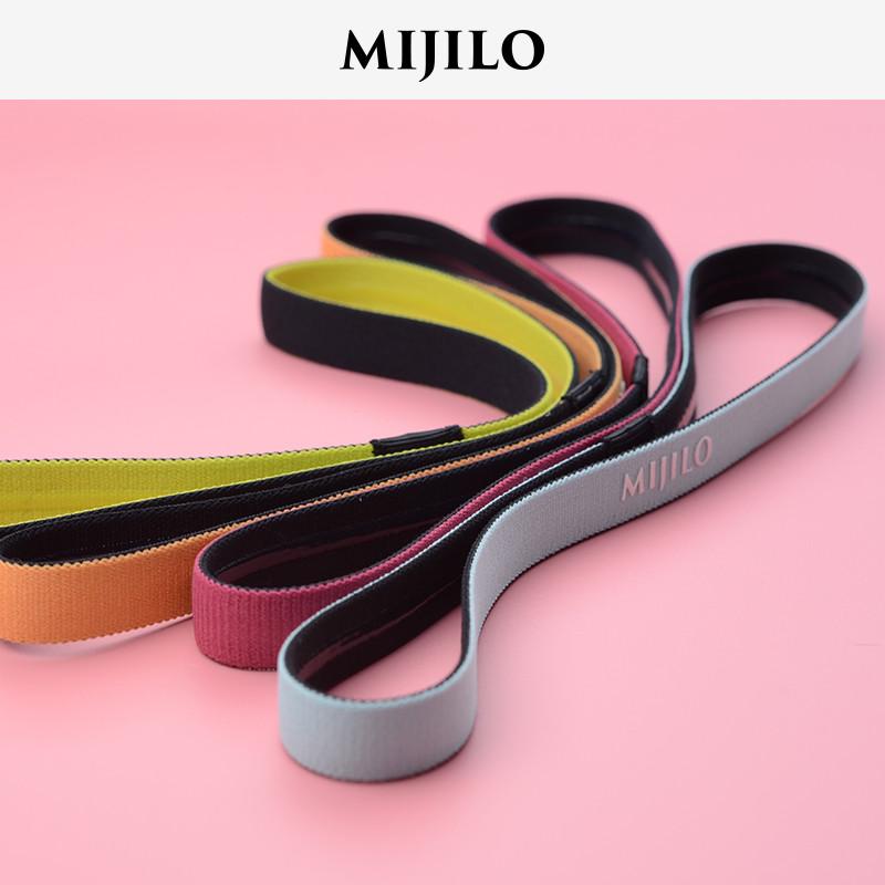 米基洛跑步运动头带健身瑜伽束发带女男吸汗防滑发箍止汗带导汗带